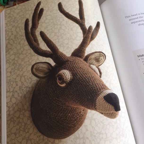 Crochet animal trophies by Vanessa Mooncie