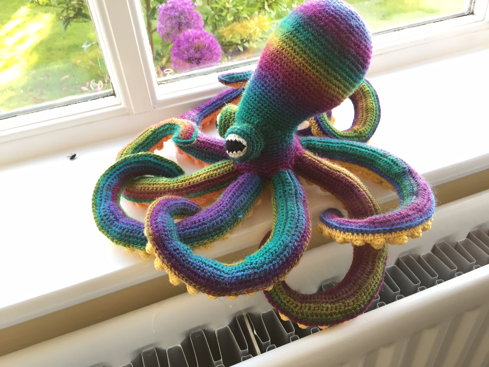 Crochet octopus in King Cole Riot 2