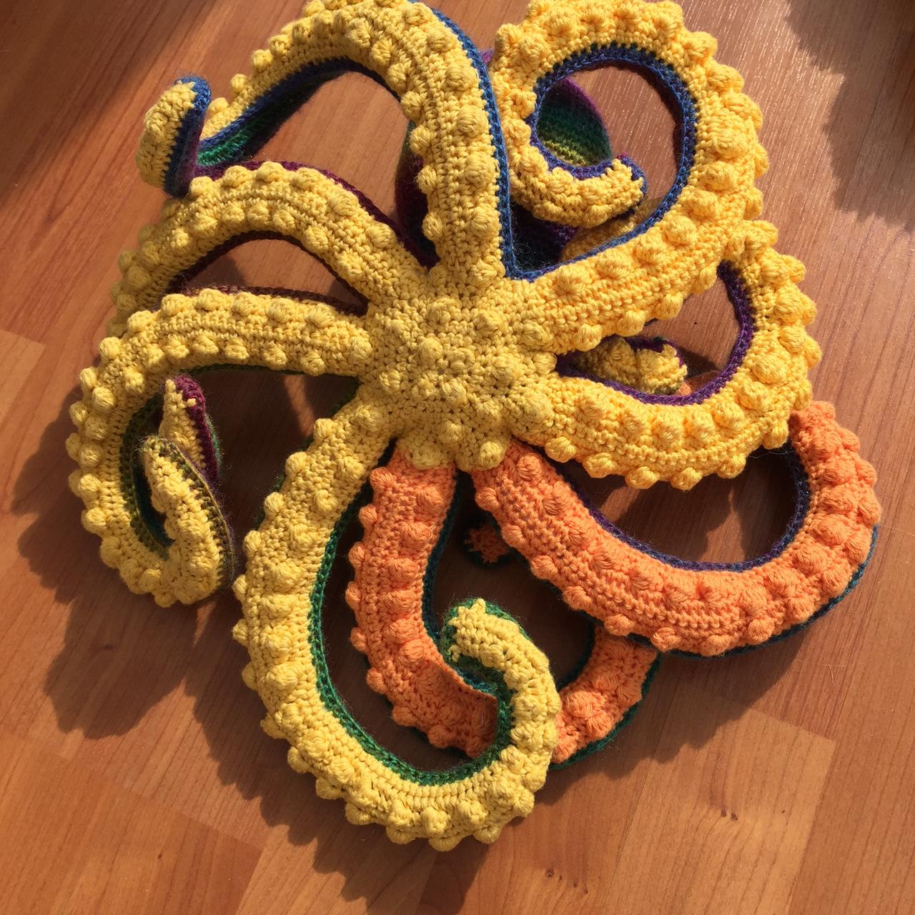 Crochet octopus underbelly